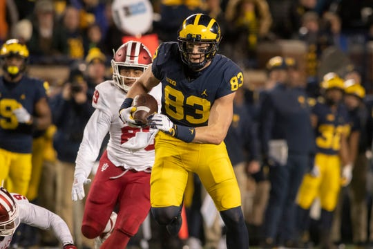 Zach Gentry, who decided after the Peach Bowl to head to the NFL rather than return to Michigan for his final season, measured 6-foot-8 1/8 at the NFL Combine this week,