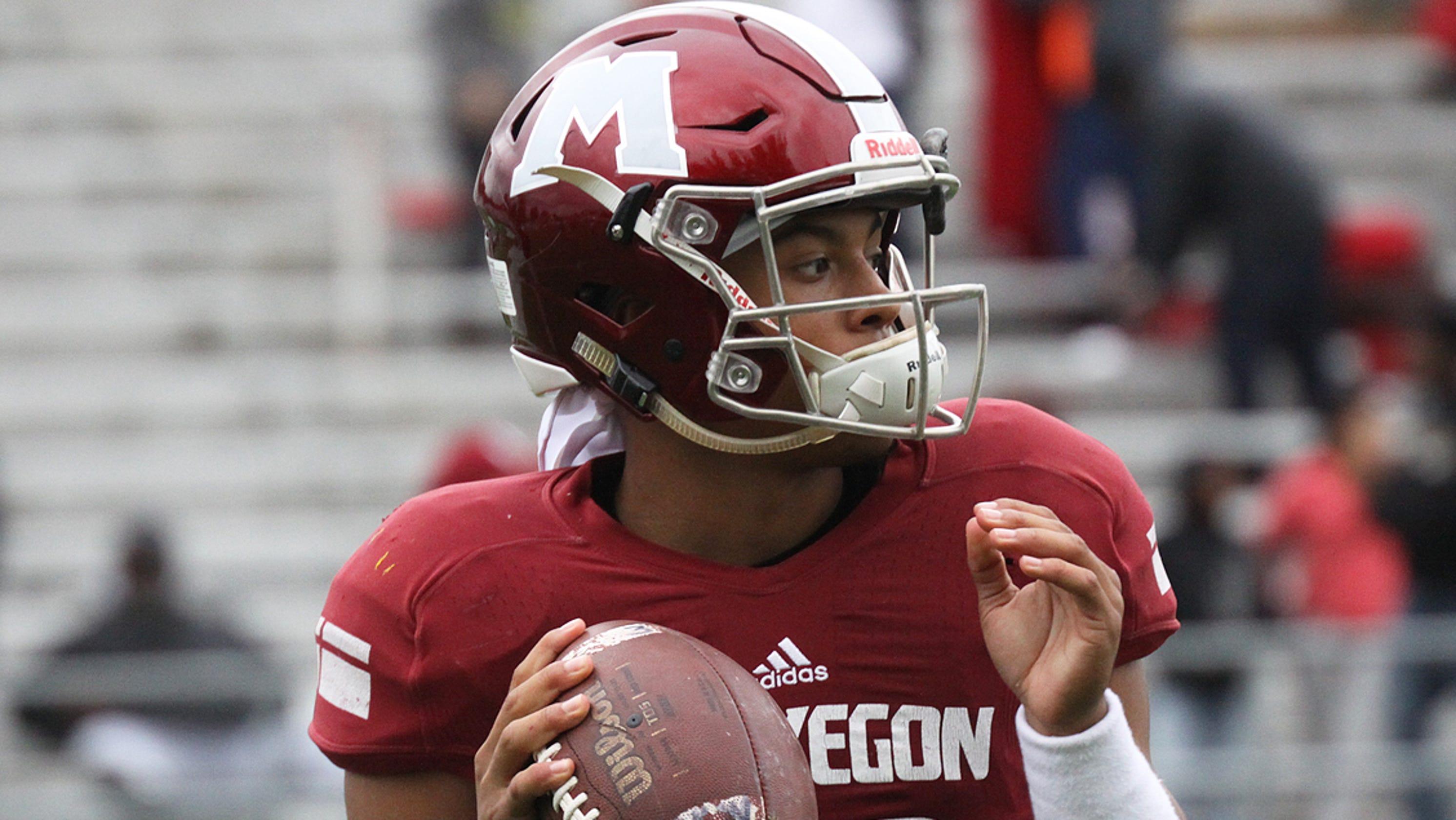 2633755c14b Trieu  Muskegon quarterback Cameron Martinez grabs Michigan s attention