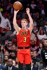 Atlanta Hawks guard Kevin Huerter shoots against the Washington Wizards on Dec. 18, 2018. Huerter was MVP of the National Division of the Josh Palmer tournament in 2015.