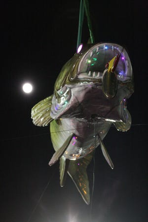 The super moon shined on the brand new Wylie Walleye that was unveiled in Port Clinton for the annual New Year's Eve Walleye Drop Dec. 31, 2017. The annual event returns this year to Port Clinton Monday night.