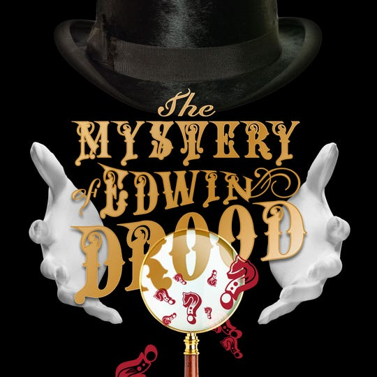 """A publicity image for TheatreZone's """"The Mystery of Edwin Drood"""""""
