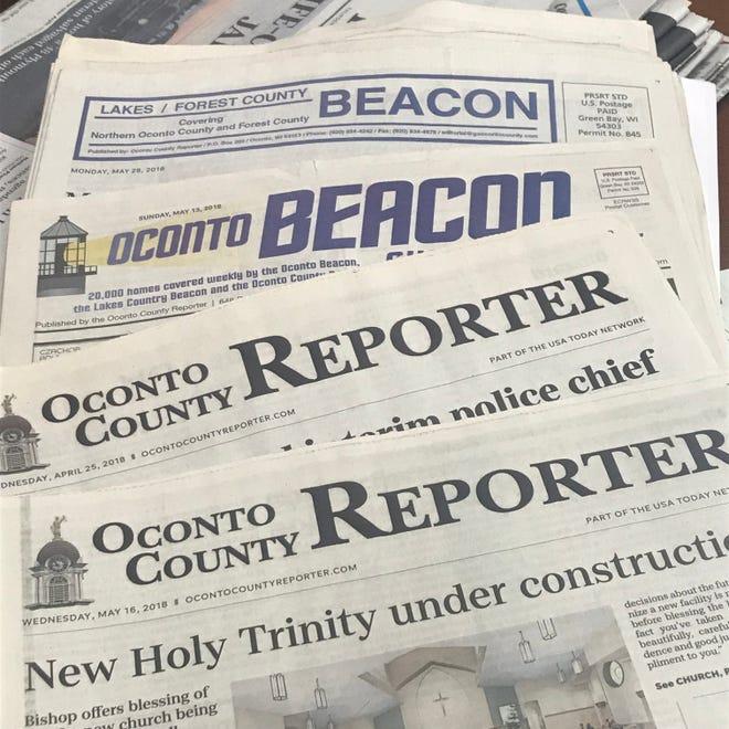 The Oconto County Reporter, The Oconto Beacon and the Lakes/Forest County Beacon.