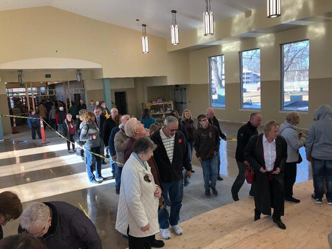 Members of Holiy Trinity Parish in Oconto visited the new church's new sanctuary, which has been under construction since May, on Dec. 15 and 16. The new structure will be dedicated on Dec. 27.