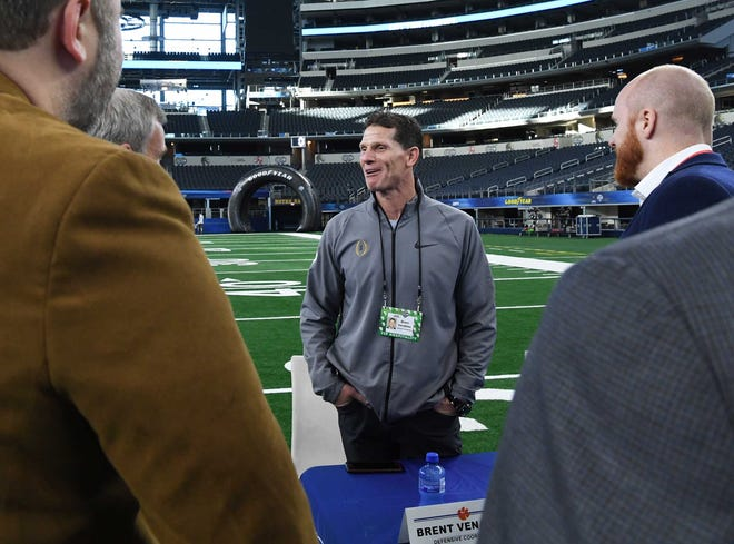 Clemson Defensive Coordinator Brent Venables during Media Day for Clemson and Notre Dame at the AT&T Stadium in Dallas December 27, 2018.