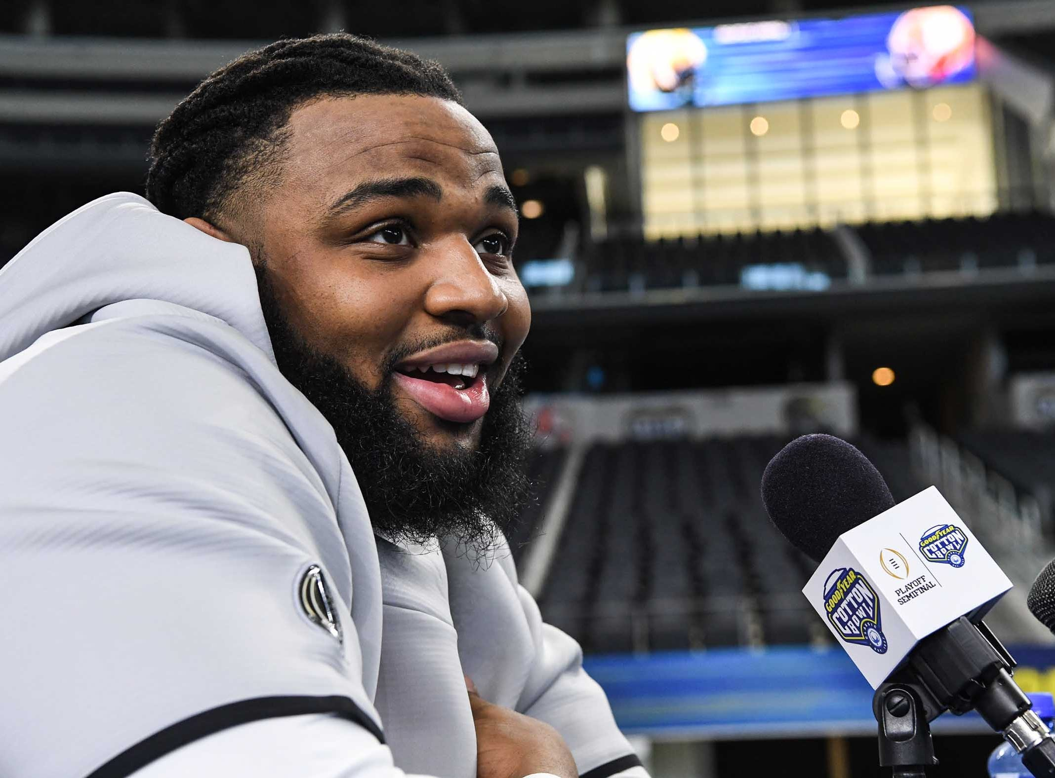 Clemson defensive lineman Christian Wilkins during Media Day for Clemson and Notre Dame at the AT&T Stadium in Dallas December 27, 2018.
