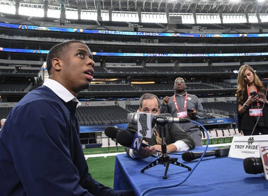 Clemson Notre Dame Media Day At At T Stadium
