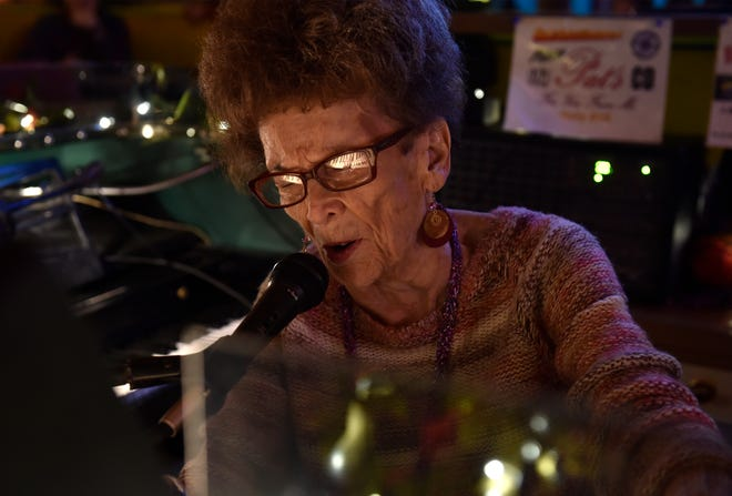 Pat Sponheim, better known as Piano Pat, performing at the Sip n Dip Lounge in 2018.