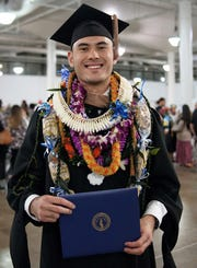 Michael Sakazaki graduated with a Master of Business Administration degree with a concentration in Accounting from Chaminade University of Honolulu on December 10, 2018. He is the son of Jason and Teresa K. Sakazaki of Asan and grandson of former senators Dr. Lawrence F. and Carmen Artero Kasperbauer of Dededo. Michael is a 2013 graduate of Father Duenas Memorial School and is currently an assistant branch manager with Bank of Hawaii on Oahu.