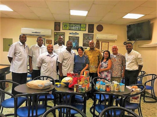 Prince Hall Masonic Family District Eight delivered food donations to the  American Legion Post 1, on November 21, 2018 for their Thanksgiving meal.