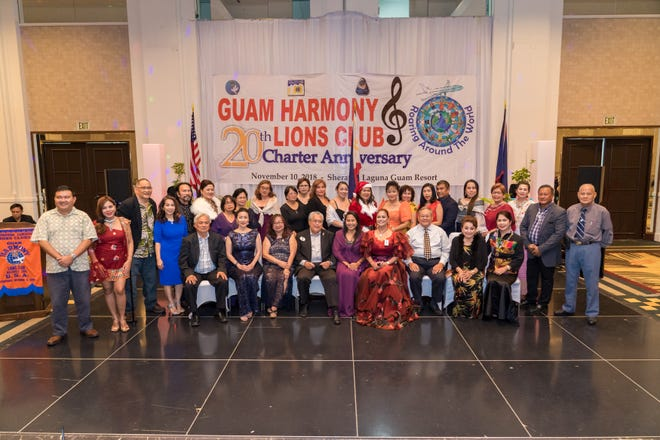 Guam Harmony Lions Club of Lions Clubs International District 204 celebrated their 20th charter anniversary Nov. 10 at the Sheraton Laguna Guam Resort that was attended by off-island 18 Lions and 1 LEO guest from District 301-A2 Philippines headed by immediate past district governor Marlan Manguba as the keynote speaker and president Atty Ma. Victoria Lagman of 7Lakes Lions Club of San Pablo City, Laguna.