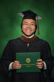 Marc Marcos, son of Marino and Celia Marcos of Dededo, an alumnus of the UOG Theatre Program, graduated Dec. 15, 2018 from the University of Hawaii at Manoa with an MFA degree in Theatre Design with a focus in Costumes.