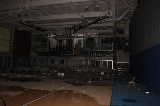 Photos inside Carmel High School show damage to the building caused by a heater-related explosion on Dec. 26. Carmel Fire Department said the investigation is still ongoing.