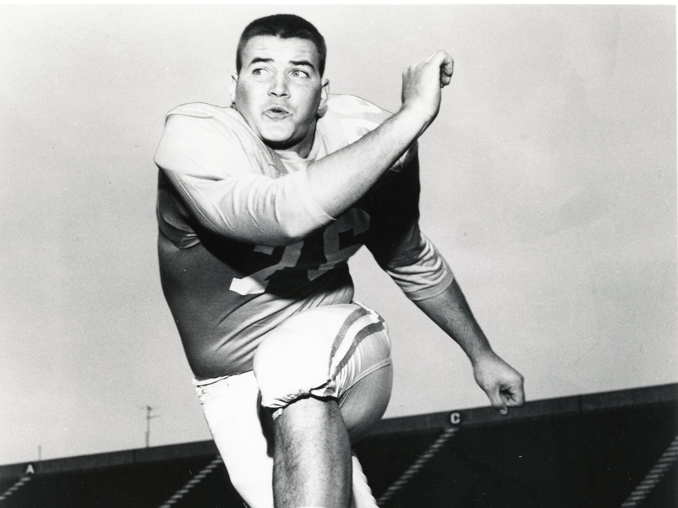 Tennessee tackle, Jerry Holloway, 1968.