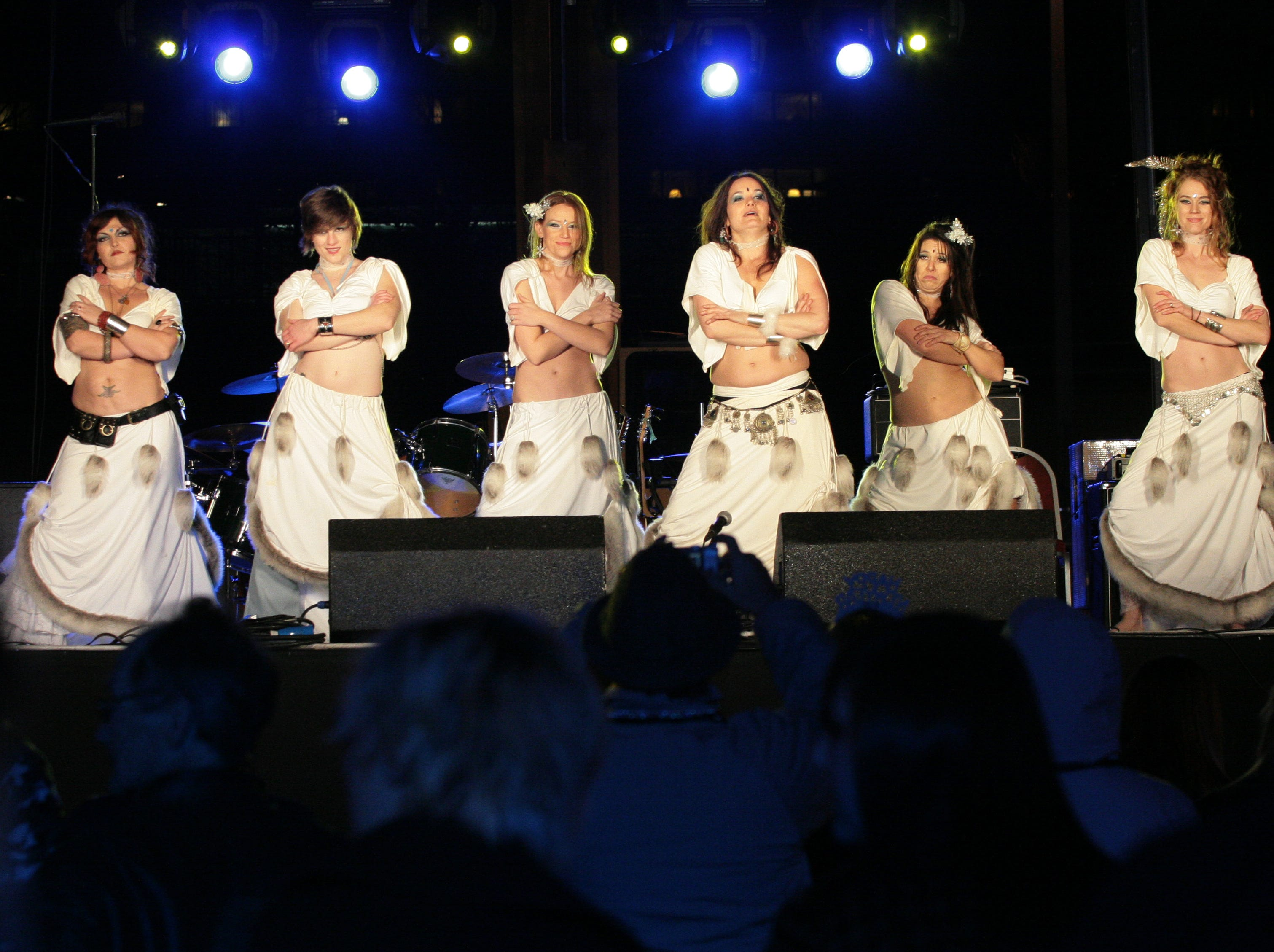 The Gypsy Hands Dance Troup performs during the New Year's eve on Market Square celebration on Monday.