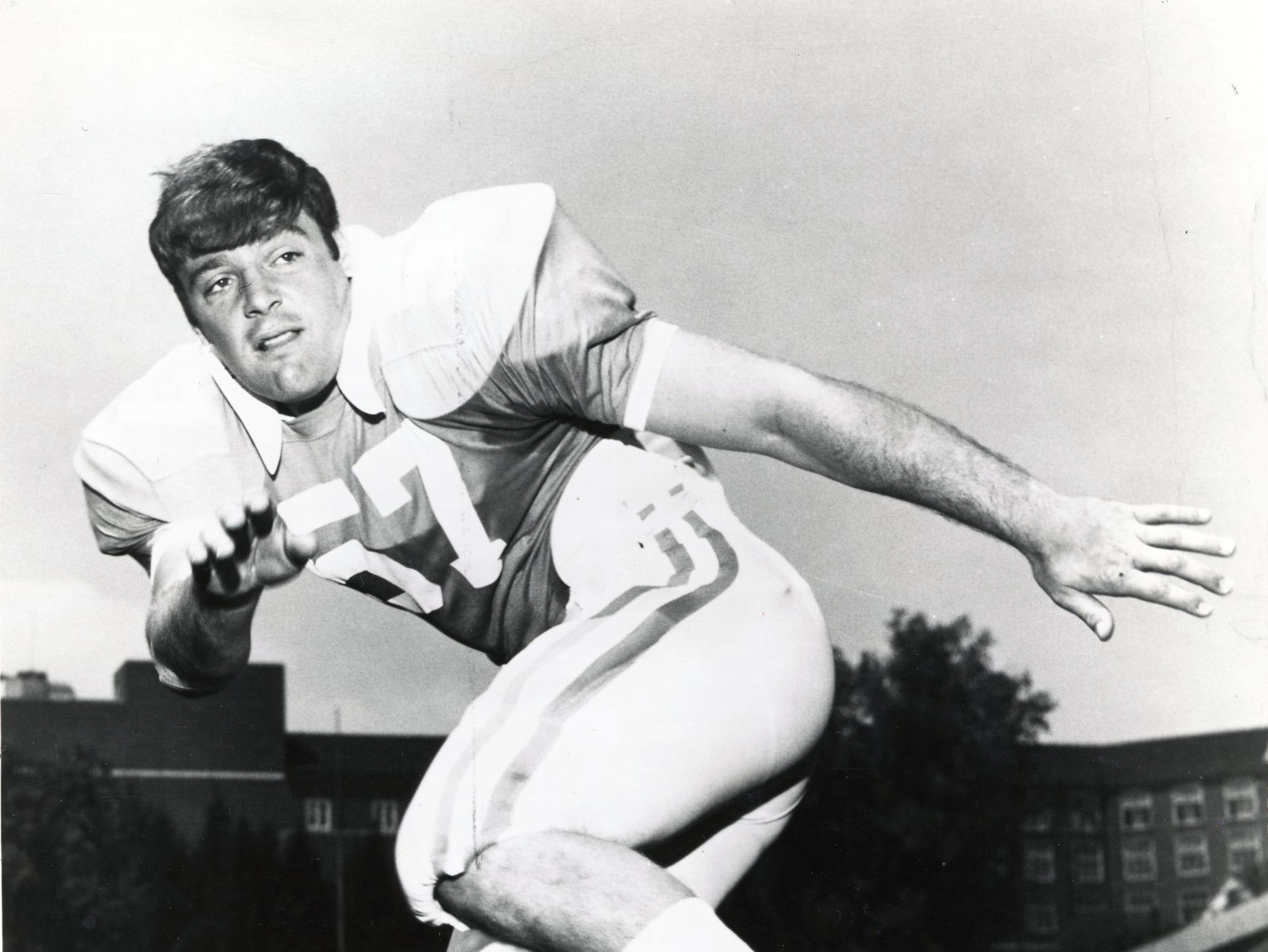 Steve Kiner, Tennessee linebacker, 1970.
