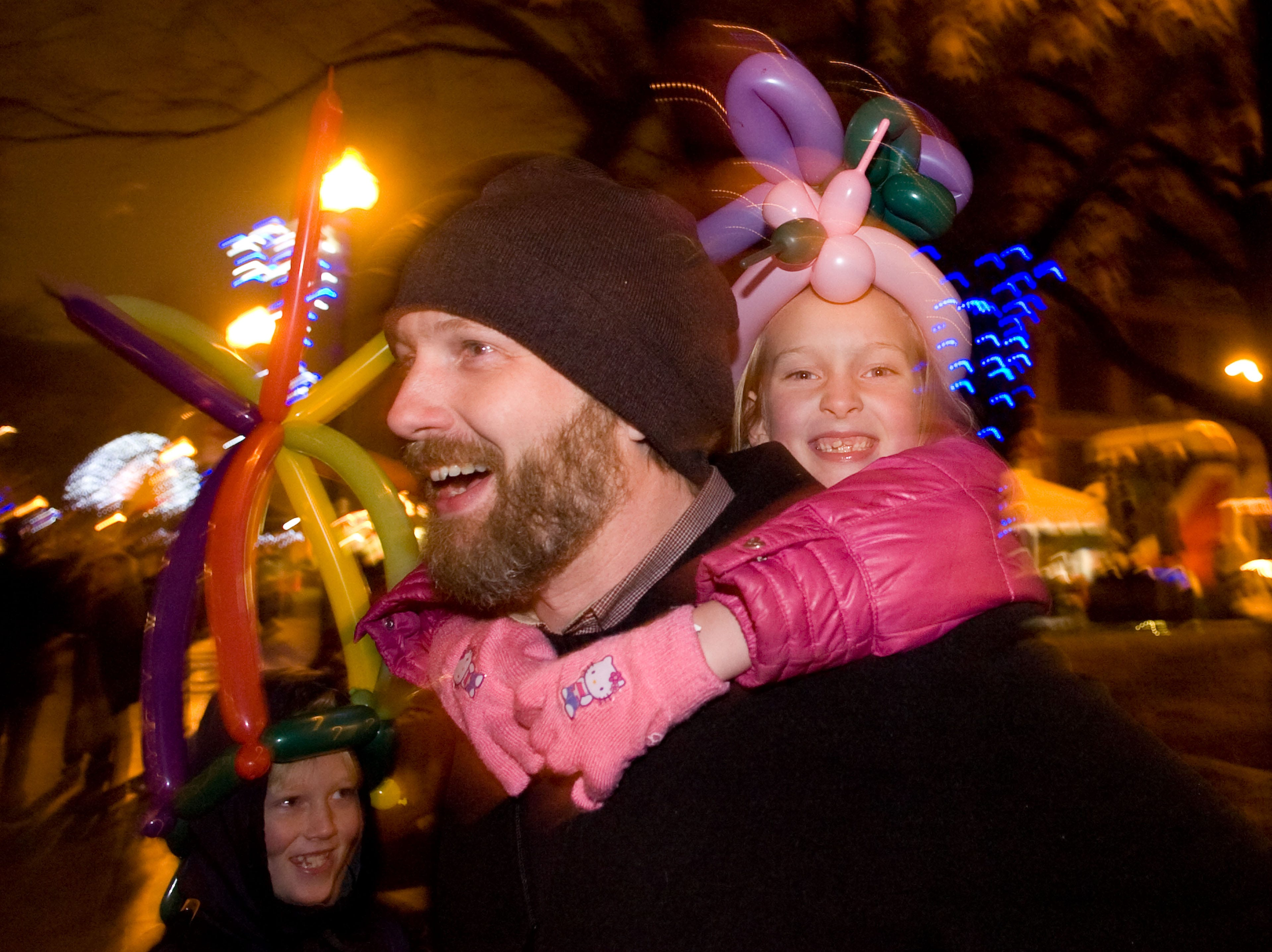 Randy Brown spends New Year's Eve with his son CadNew Year's Eve celebration on Thursday, Dec 31, 2009.