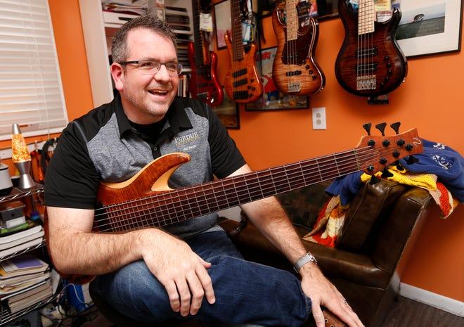 Professional musician Scott Pazera Thursday, December 27, 2018, in his Lafayette home.