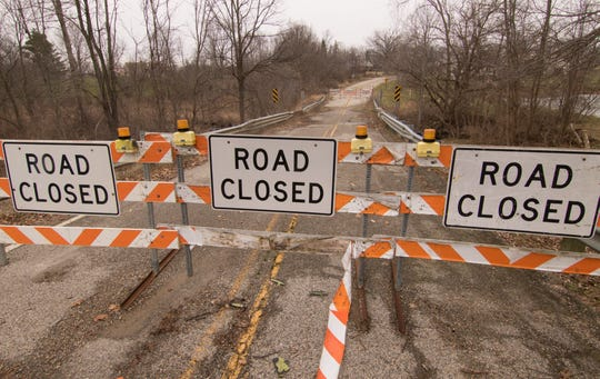 A bridge on Eager Road in Oceola Township, shown Thursday, Dec. 27, 2018, will be replaced for about $2.2 million, according to the Livingston County Road Commission's adopted budget. It failed and was closed to traffic in 2015.