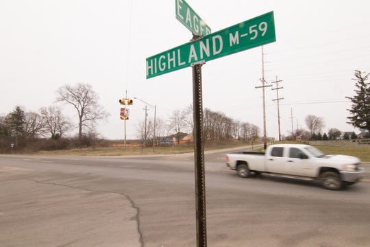 The intersection of Eager Road and M-59 in Oceola Township, shown Thursday, Dec. 27, 2018, will be redesigned for $879,000, according to the Livingston County Road Commission's adopted budget.