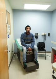 """John Howard, 22, doesn't have health insurance but does get care at the Family Health Center on East Muhammad Ali. """"Right now, I'm living dollar to dollar, """" Howardsaid. """"What if I get sick while I'm homeless? How do I pay for it?""""  Dec. 27, 2018"""