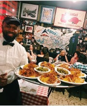 Barbecue nachos are a popular starter at Charlie Vergos' Rendezvous.