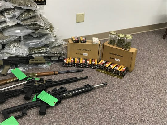 Over 3,000 rounds of ammunition and numerous magazines were seized during the bust.