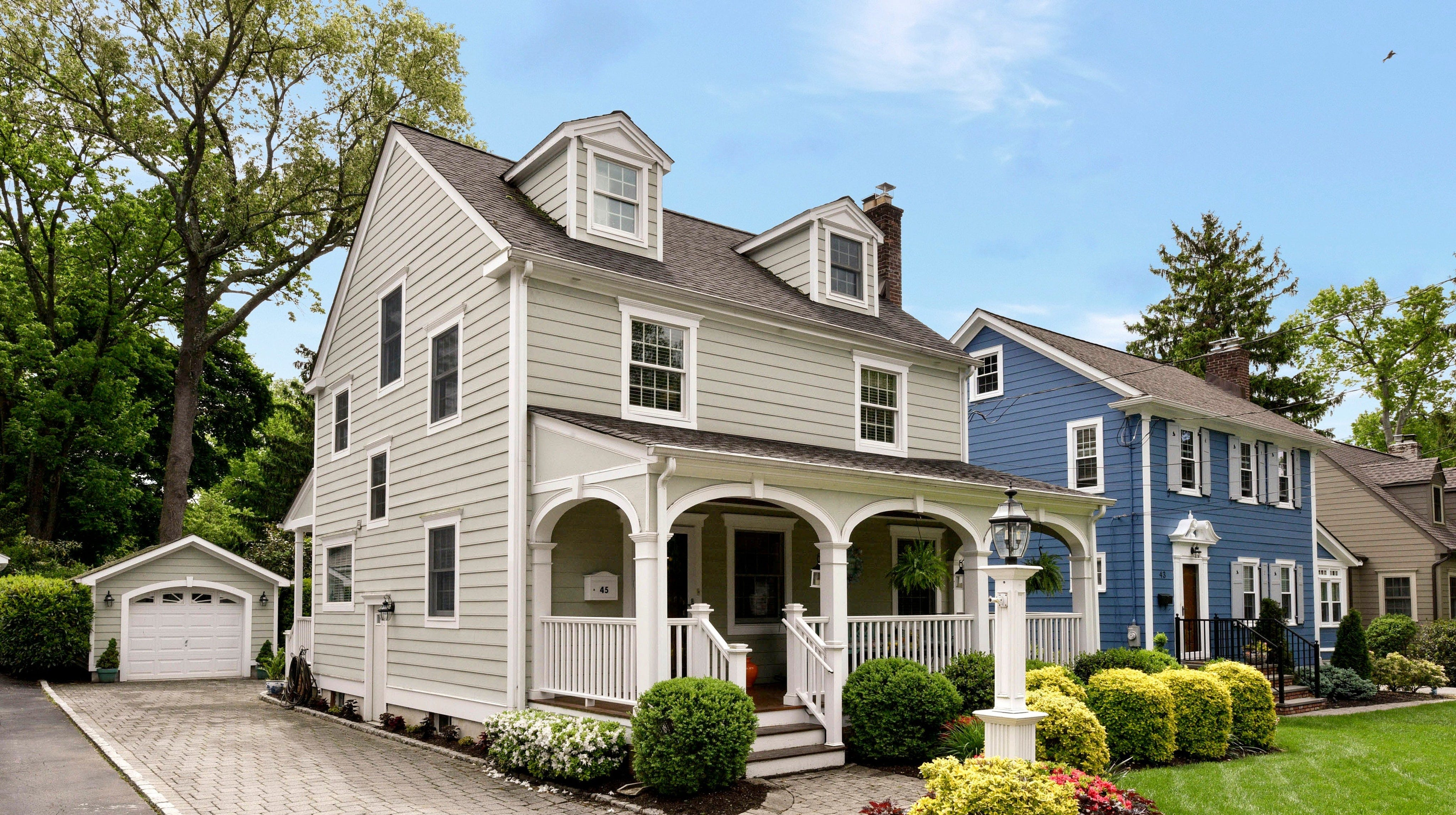 This four-bedroom home, thorougly renovated inside and out, has three levels of living in the Washington's Headquarters neighborhood of Morris Township.