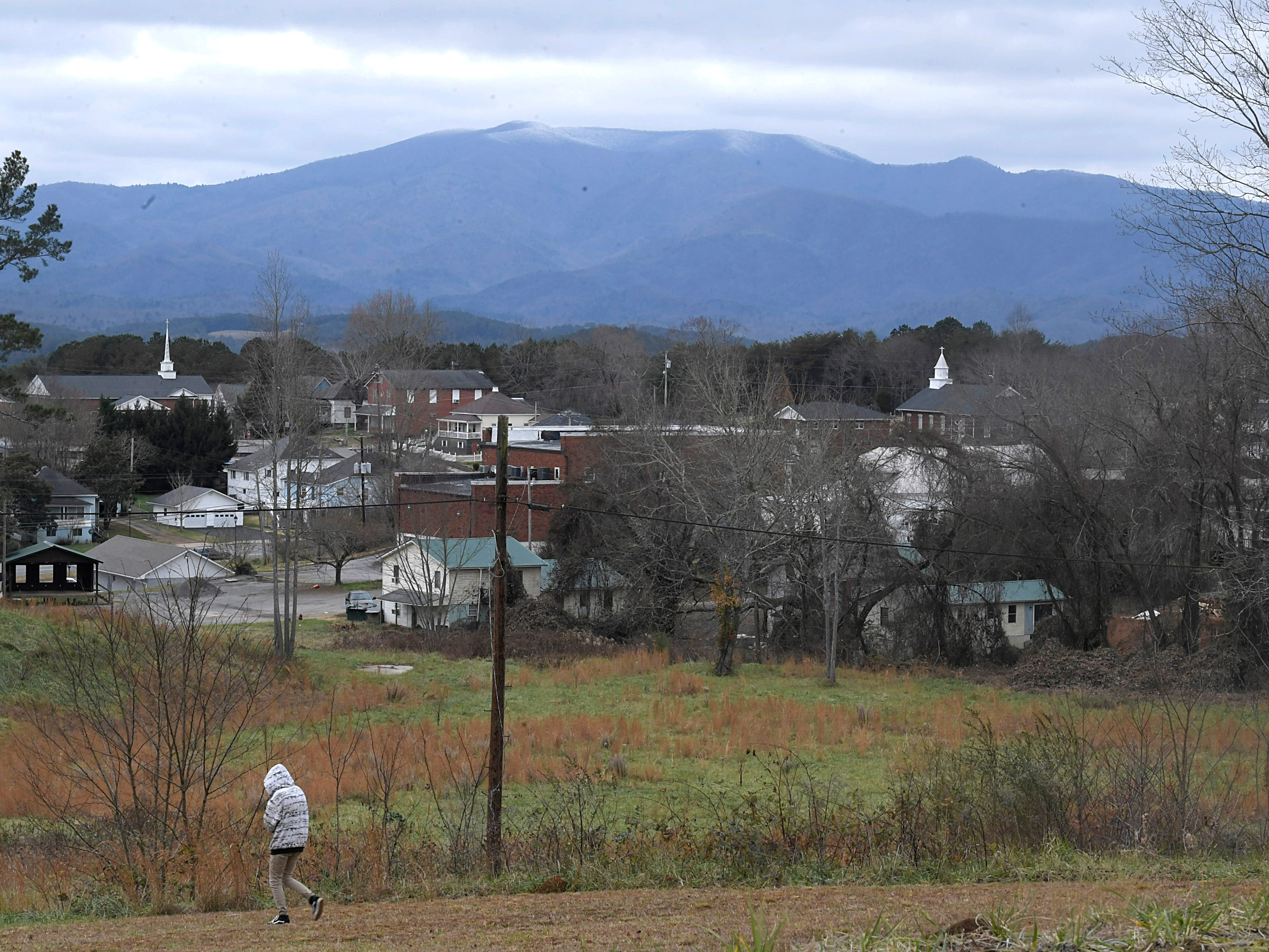 A view of Appalachian Mountains with downtown Ducktown, Tennessee with the foreground on Dec. 4, 2018.