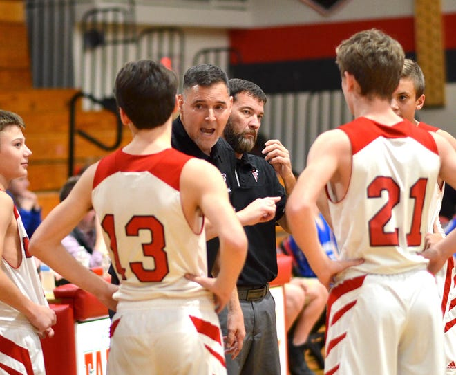 Fairview Middle School boys basketball coach Wil Hyche led his team to an undefeated regular season, and the Falcons are now a win away from the state semifinals.