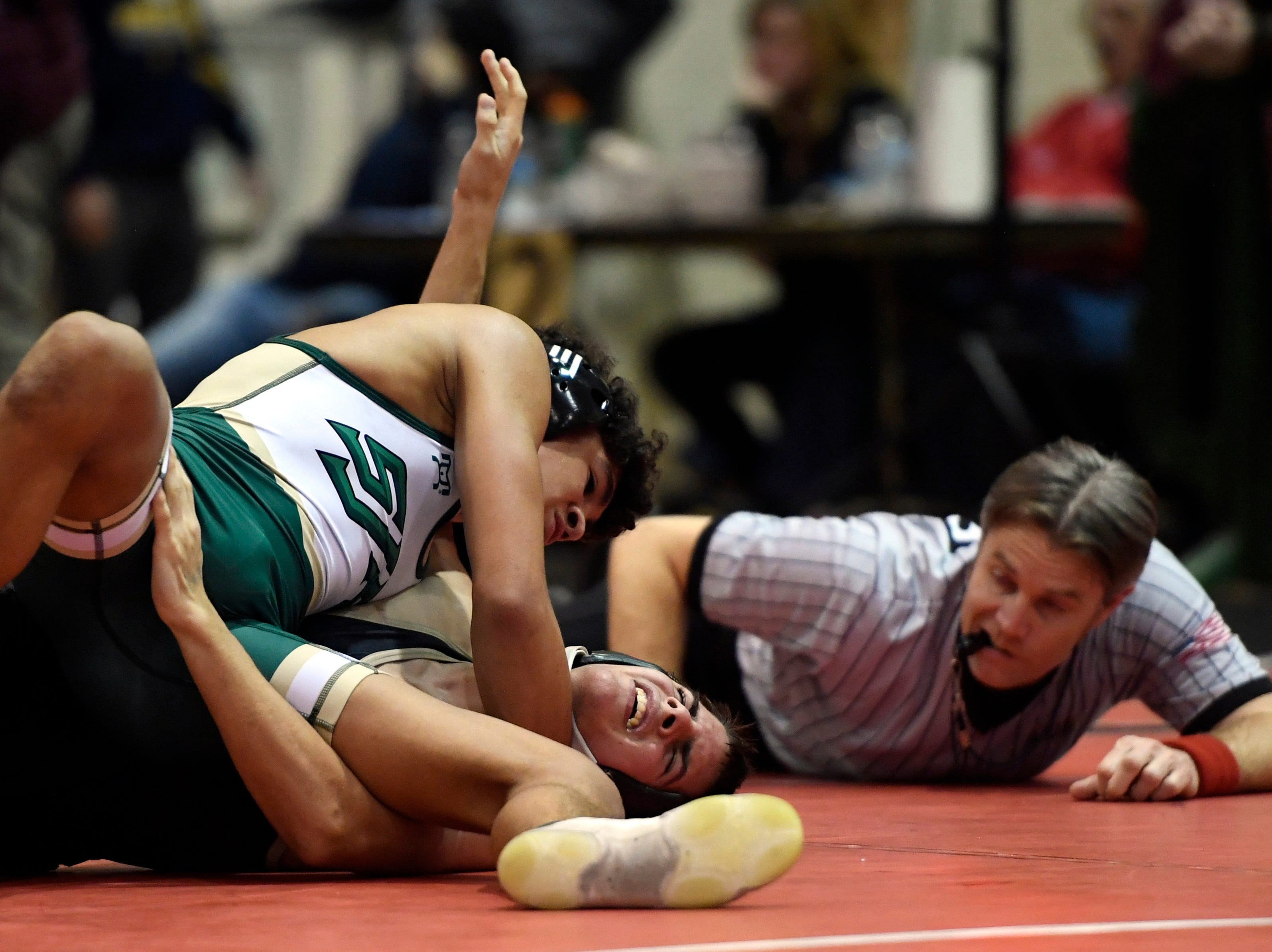 Sammy Alvarez of St. Joseph defeats Chris Lydon of Paramus Catholic in a 132-pound quarterfinal match on Day 1 of the BCCA holiday wrestling tournament on Thursday, Dec. 27, 2018, in Hackensack.