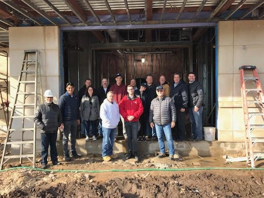 Garfield city officials visited the police station construction site on Midland Avenue in December 2018.