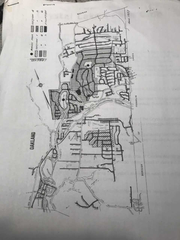 RML's map shows streets affected by court ruling in Oakland.  Crystal Lake with dot in center is shown center left.