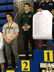 DePaul's Connor O'Neil took second at 160 pounds in the Beast of the East Tournament.