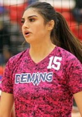 Lady 'Cat Co-Captain and outside hitter Jolene Perez was a force to be reckoned with from the left post.