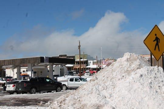 Snowdrifts abound Thursday, Dec. 27, after a winter storm in Cloudcroft.