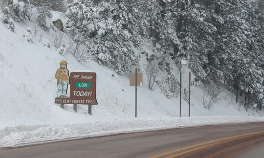 The risk of wildfire in the area is low on account of the recent snowfall.