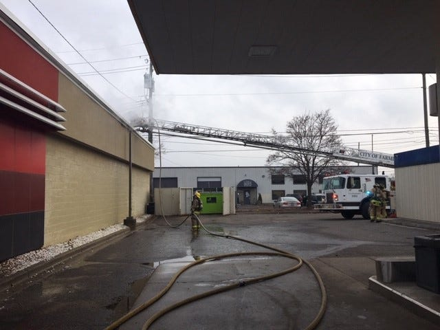 Firefighters responded to the Farmington Road Kentucky Fried Chicken restaurant for a kitchen fire.