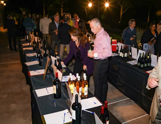 Guests enjoyed selecting from a wide variety of fine wines.
