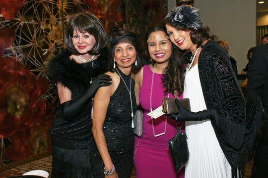 (left to right) Marylynn Gladstein, Jaishri Mehta, Karishma Mehta, and Shakira Michaels.
