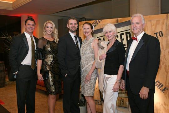 (left to right) Robert L. Schein, Jennica Schein, Rick Blanke Jr., Brooke Blanke, Janet Blanke, and Rick Blanke, Sr