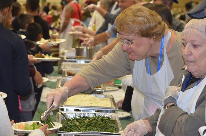 Hundreds  enjoyed Christmas dinner