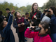 "Emily Martell (back), a teacher/naturalist with the Nina Mason Pulliam Rio Salado Audubon Center, bird-watches with Zuri Rhooms (from left), 6, Johana Lugo, 10, Yhitzelle Bernal, 8, and other kids from the Tri-City West Thornwood Branch of Avondale of the Boys & Girls Clubs of Metro Phoenix, at the Audubon Center in Phoenix on Dec. 6, 2018. ""Arizona's River Keepers"" is an after-school program for third- through sixth-graders to expose them to the different plants and animals in the Salt River area just south of downtown Phoenix. It is a Season for Sharing grant recipient."