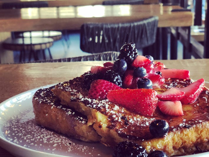 Brioche french toast from Zinqué, coming to Scottsdale Fashion Mall in 2019.