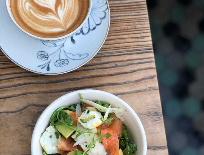 Egg white frittata bowl with smoked salmon at Zinqué, coming to Scottsdale Fashion Mall in 2019.