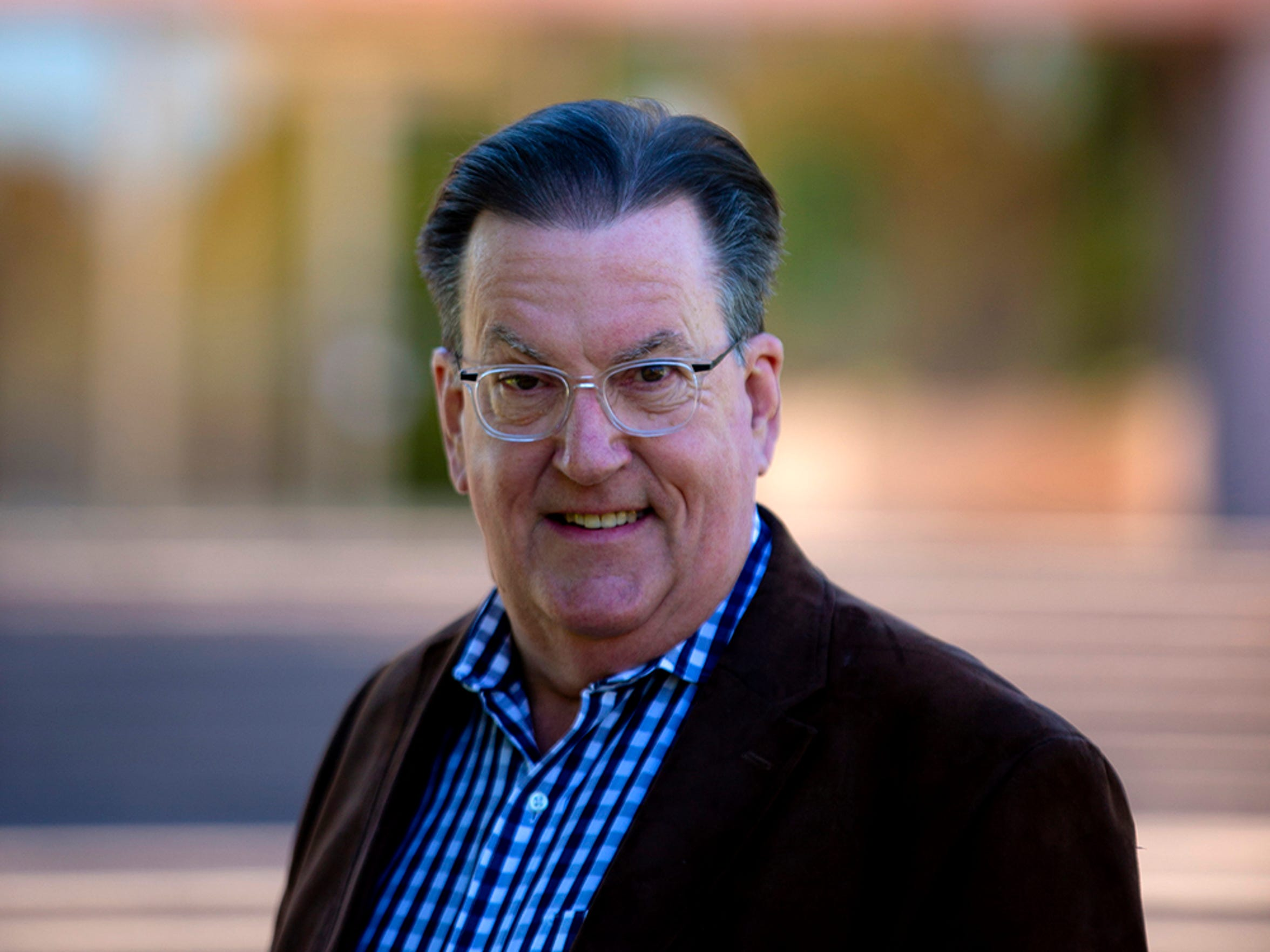 Grady Gammage Jr. outside Gammage Auditorium in Tempe on December 20, 2018.