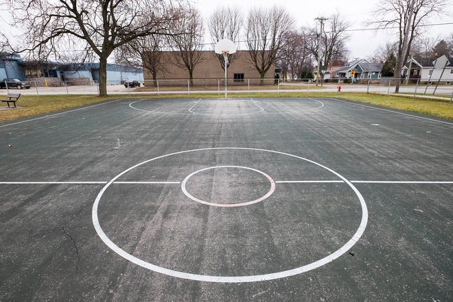 Basketball courts at Optimist Park in Port Huron. Through a grant, the city will be installing new tennis, pickleball and basketball courts at several parks in Port Huron.