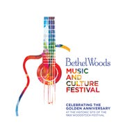 The logo for the Bethel Woods Music and Culture Festival.
