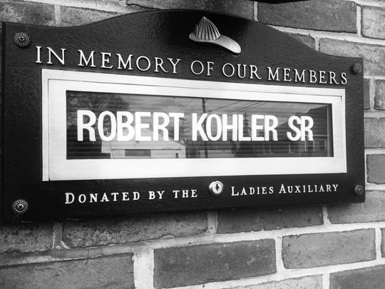 Mount Wolf's Eagle Fire Co. shared this photo from their firehouse honoring Robert Kohler Sr. The fire station's Facebook post states that Kohler's legacy will live on forever in the hearts of his fellow first-responders.