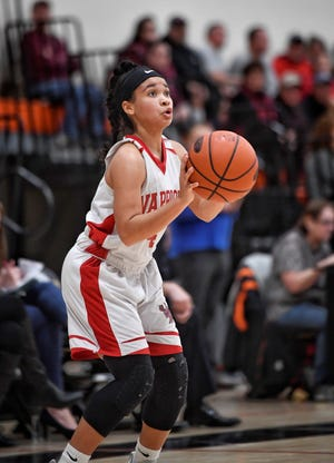 Susquehannock High School standout Jayla Galbreath reached the 1,000-point milestone for her career on Friday night. DISPATCH FILE PHOTO