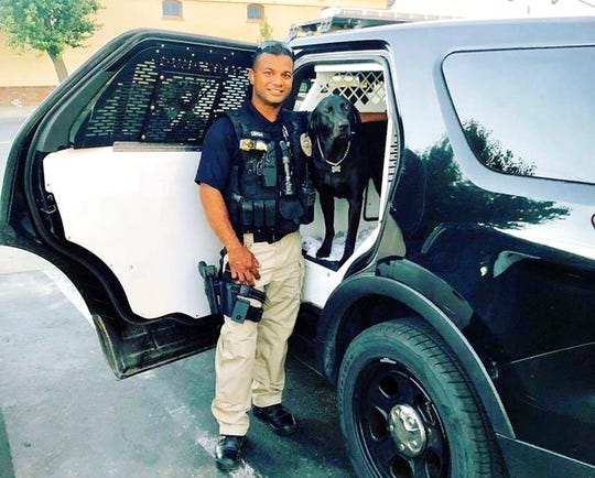 "This undated photo provided by the Newman Police Department shows officer Ronil Singh of Newman Police Department who was killed by an unidentified suspect. The Stanislaus County Sheriff's Department said Singh was conducting a traffic stop early Wednesday, Dec. 26, 2018, in the town of Newman, Calif. when he called out ""shots fired"" over his radio."